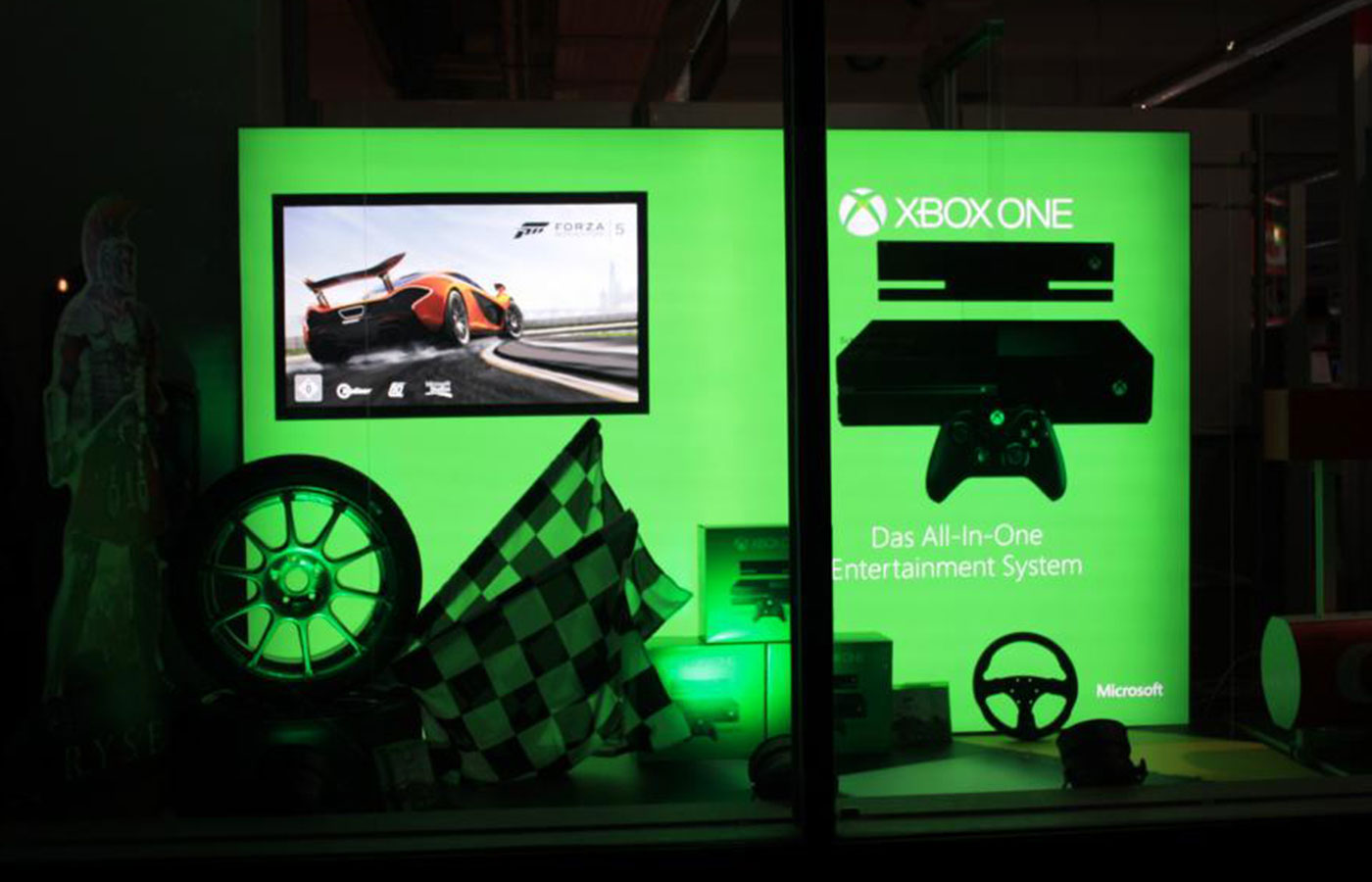 Microsoft Launch Xbox One – Schaufenstergestaltung